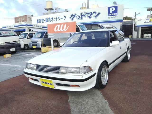 沖縄の中古車 トヨタ マークII 車両価格 218万円 リ済別 1989(平成1)年 8.5万km ホワイト