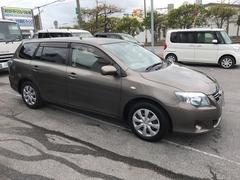 沖縄の中古車 トヨタ カローラフィールダー 車両価格 59万円 リ済別 平成23年 5.1万K ブラウン