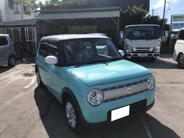 沖縄の中古車 スズキ アルトラパン 車両価格 104万円 リ済別 平成28年 1.6万km グリーンII