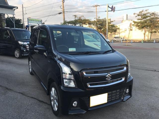 沖縄の中古車 スズキ ワゴンRスティングレー 車両価格 98万円 リ済別 2017(平成29)年 3.1万km ブラック