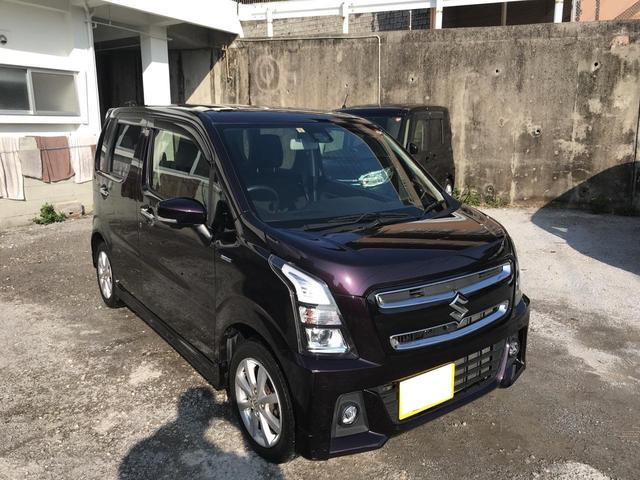 沖縄の中古車 スズキ ワゴンRスティングレー 車両価格 90万円 リ済別 2017(平成29)年 2.5万km ブラックII