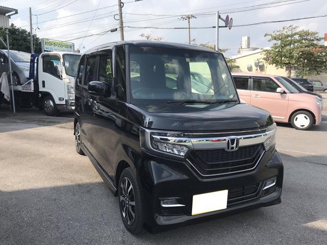 沖縄の中古車 ホンダ N-BOXカスタム 車両価格 155万円 リ済別 2017(平成29)年 2.2万km ブラック