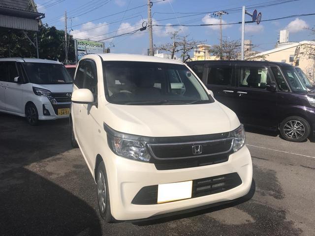沖縄の中古車 ホンダ N-WGN 車両価格 57万円 リ済別 2014(平成26)年 5.5万km パールホワイト