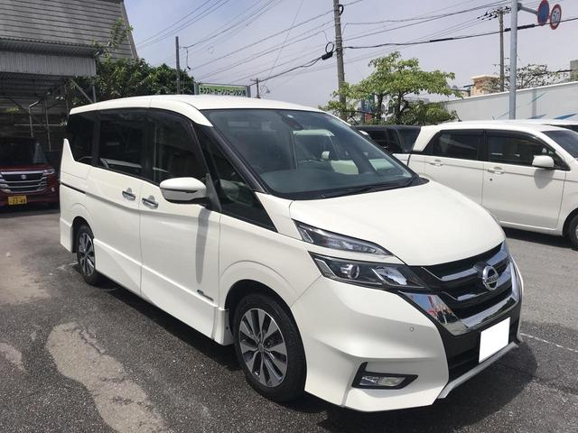 沖縄の中古車 日産 セレナ 車両価格 193万円 リ済別 2016(平成28)年 3.2万km パールホワイト