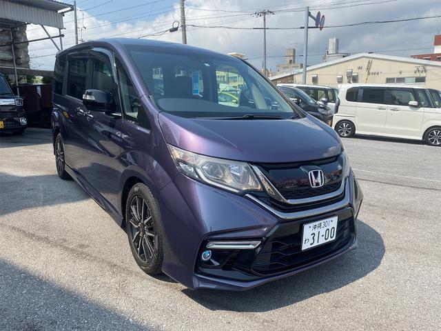 沖縄の中古車 ホンダ ステップワゴン 車両価格 169万円 リ済別 2016(平成28)年 3.2万km パープル