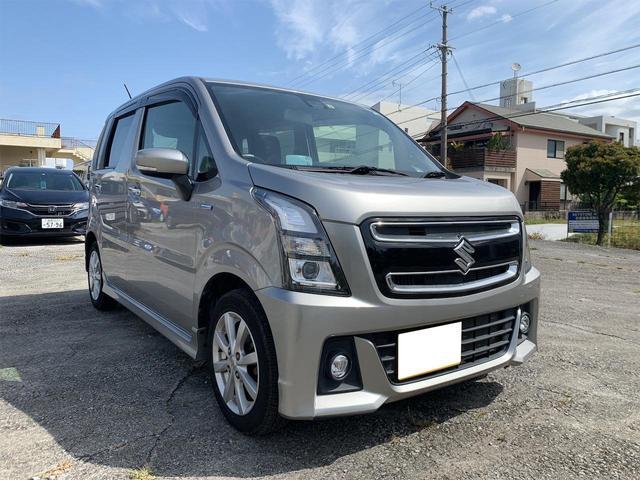 沖縄の中古車 スズキ ワゴンRスティングレー 車両価格 98万円 リ済別 2017(平成29)年 3.4万km シルバー