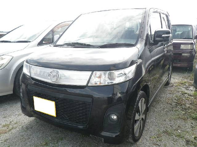 沖縄の中古車 マツダ AZワゴンカスタムスタイル 車両価格 63万円 リ済込 平成22年 9.7万km ブラック