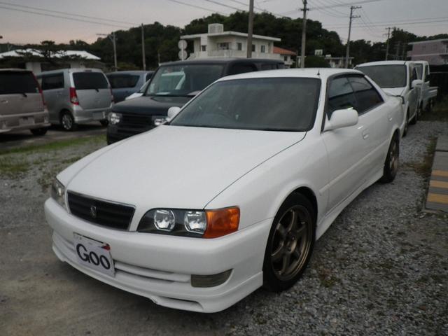 沖縄県の中古車ならチェイサー ツアラーV 純正5速 インタークーラー車高調