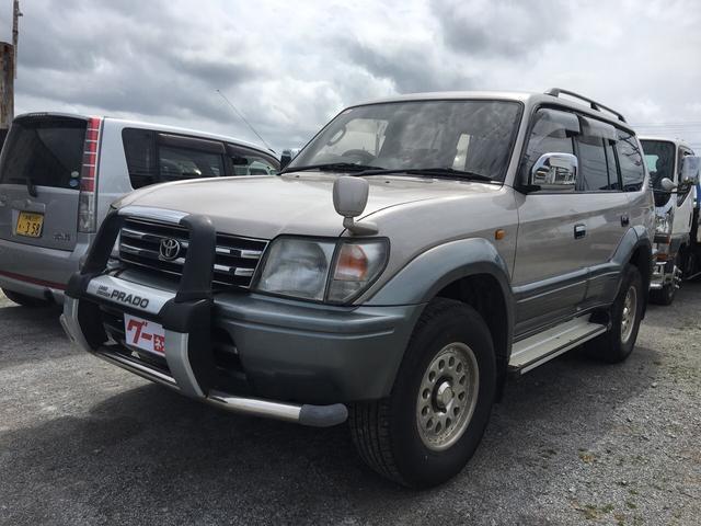沖縄の中古車 トヨタ ランドクルーザープラド 車両価格 ASK リ済込 1997(平成9)年 23.2万km ベージュII