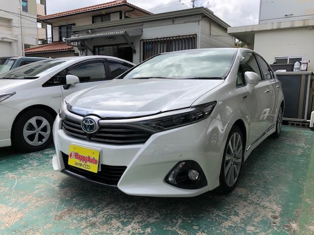 沖縄の中古車 トヨタ SAI 車両価格 139万円 リ済込 2014(平成26)年 9.3万km パールホワイト