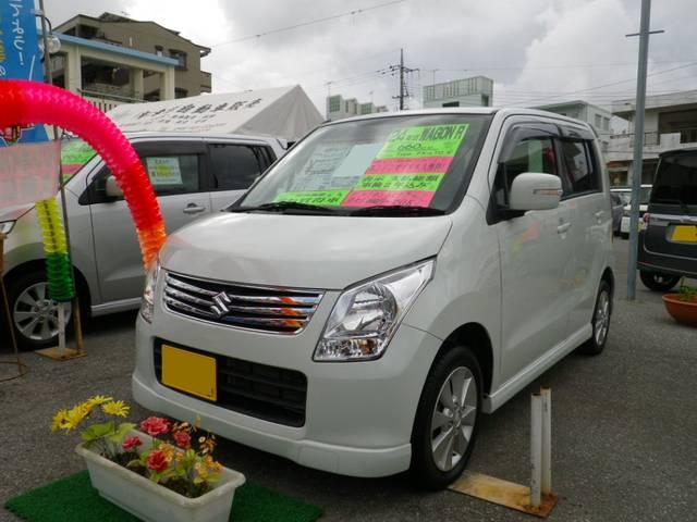 沖縄の中古車 スズキ ワゴンR 車両価格 49万円 リ済込 平成24年 1.1万km パール