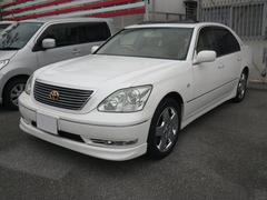 沖縄の中古車 トヨタ セルシオ 車両価格 43万円 リ済込 平成16年 11.5万K パールホワイト