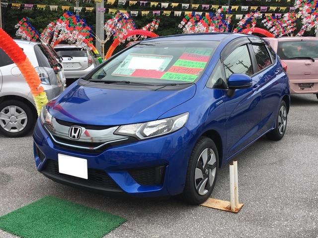 沖縄県の中古車ならフィットハイブリッド Fパッケージ スマートキー ナビTV ETC