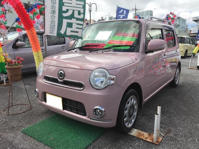 沖縄の中古車 ダイハツ ミラココア 車両価格 73万円 リ済込 2012(平成24)年 2.9万km ライトピンク