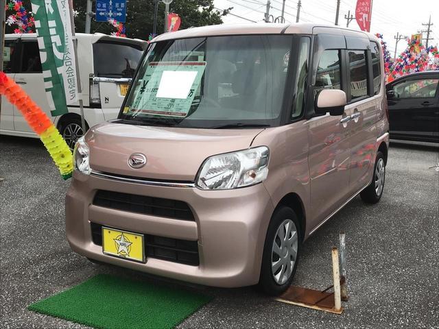 沖縄の中古車 ダイハツ タント 車両価格 83万円 リ済込 2016(平成28)年 5.9万km ライトピンクM