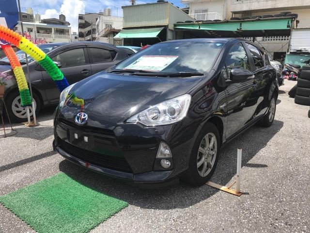 沖縄県の中古車ならアクア S スマートキー ナビTV バックモニター 社外アルミ
