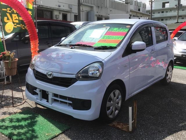 沖縄の中古車 ダイハツ ミライース 車両価格 53万円 リ済込 2014(平成26)年 3.8万km ライトブルー