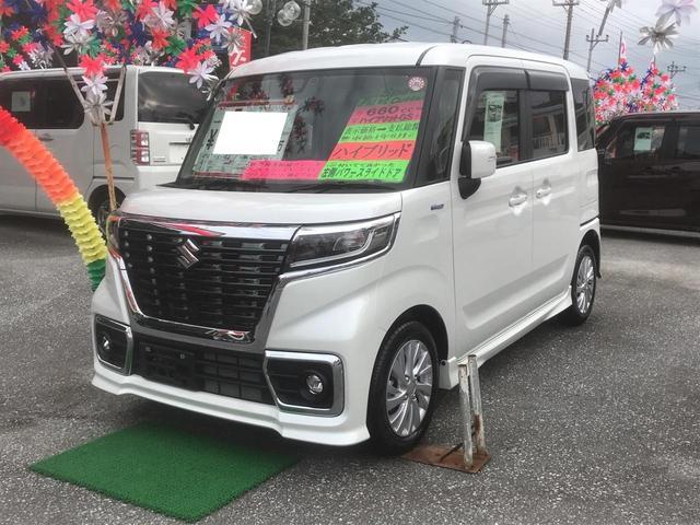 沖縄県の中古車ならスペーシアカスタム ハイブリッドGS ナビTV パワースライドドア 緊急ブレーキ