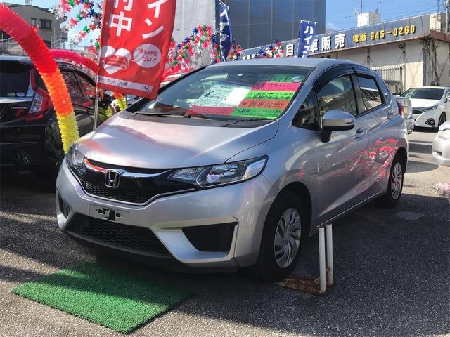 沖縄県の中古車ならフィット 13G・Fパッケージ スマートキー ナビ 緊急ブレーキ