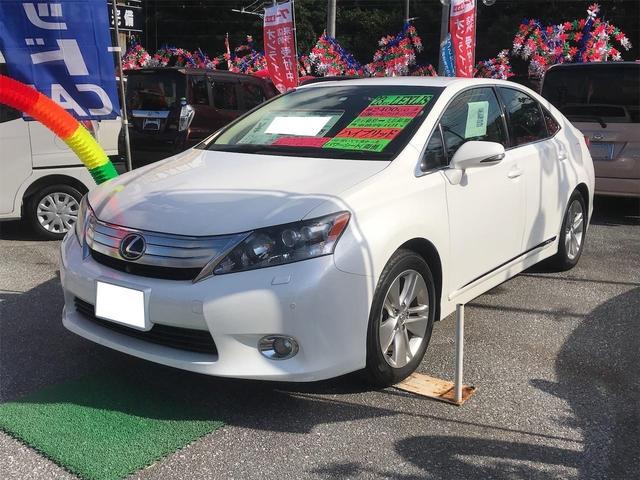沖縄の中古車 レクサス HS 車両価格 109万円 リ済込 2011(平成23)年 8.3万km パールホワイト