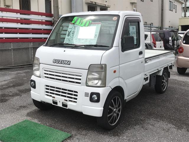 沖縄県の中古車ならキャリイトラック 5速MT エアコン パワステ 4WD 社外アルミ