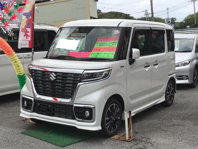 沖縄県の中古車ならスペーシアカスタム ハイブリッドXS ナビTV バックモニター 緊急ブレーキ