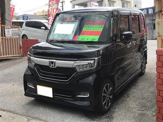 沖縄県の中古車ならN-BOXカスタム G・Lホンダセンシング ナビTV 左側パワースライドドア