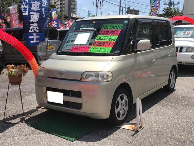 沖縄の中古車 ダイハツ タント 車両価格 24万円 リ済込 2004(平成16)年 7.2万km ライトゴールドM