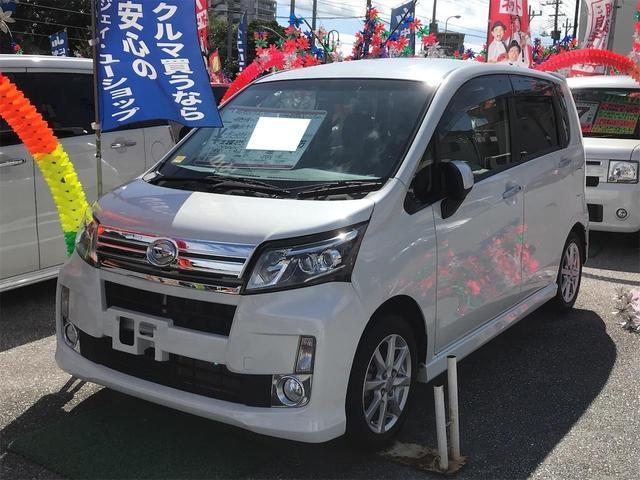 沖縄県の中古車ならムーヴ カスタム X SA スマートキー CD ベンチシート 純正アルミ アイドリングストップ 緊急ブレーキサポートシステム