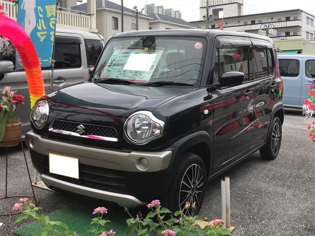 沖縄の中古車 スズキ ハスラー 車両価格 89万円 リ済込 2014(平成26)年 4.8万km ブラック