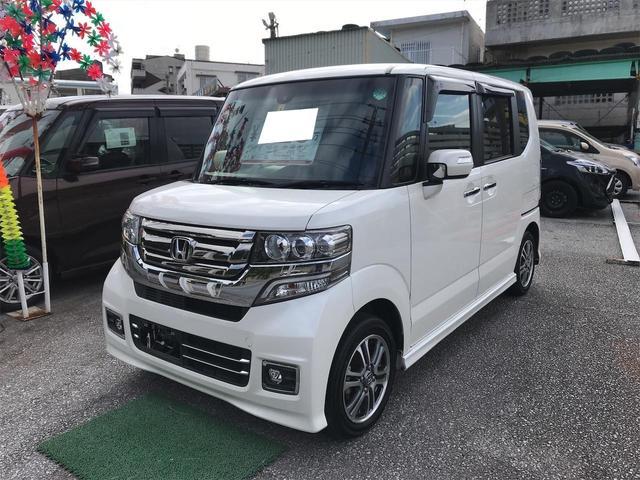 沖縄の中古車 ホンダ N-BOXカスタム 車両価格 123万円 リ済込 2017(平成29)年 4.1万km パールホワイト