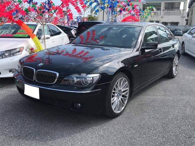 中頭郡西原町 (有)幸洋自動車販売 BMW 7シリーズ 740i キーレス ナビ CD サンルーフ 純正アルミホイール ブラック 6.7万km 2007(平成19)年