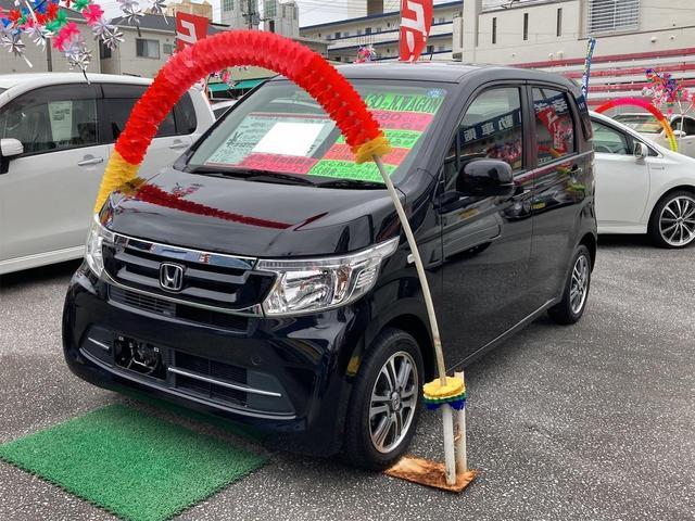 沖縄の中古車 ホンダ N-WGN 車両価格 87万円 リ済込 2018(平成30)年 2.2万km ブラック