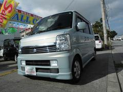沖縄の中古車 スズキ エブリイワゴン 車両価格 49万円 リ済込 平成19年 9.9万K ライトブルーM