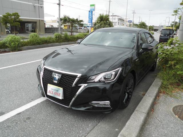 沖縄県の中古車ならクラウンハイブリッド アスリートS後期モデル 本土車 衝突軽減ブレーキ スパッタ付