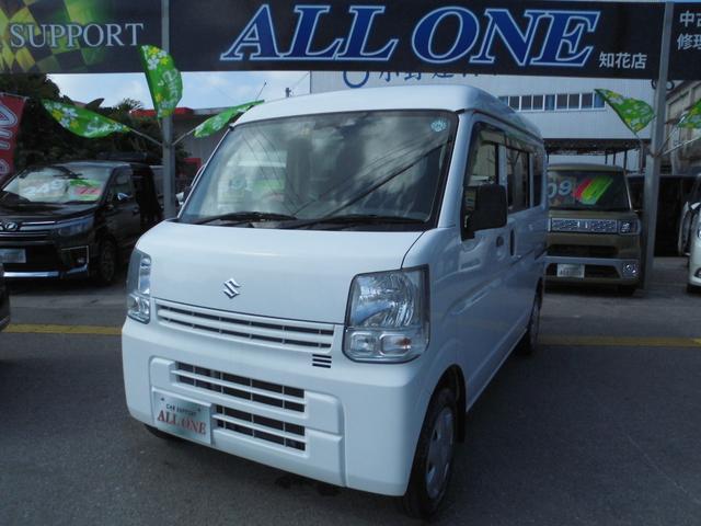沖縄県沖縄市の中古車ならエブリイ PC 本土車 修復無 2年保証 レーダーブレーキ ナビ