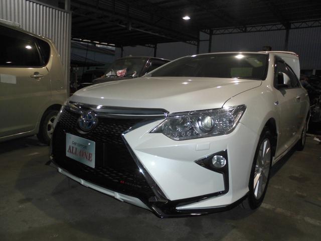 沖縄県沖縄市の中古車ならカムリ ハイブリッド GPKG  本土車 2年保証 レクサスフェイス