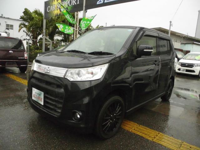 沖縄県の中古車ならワゴンRスティングレー T本土車 修復無 2年保証 フルセグTV Bluetooth