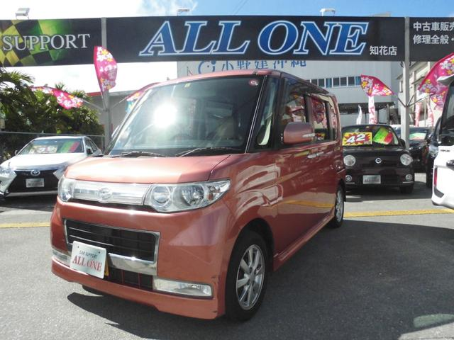 沖縄県の中古車ならタント カスタムX 左パワースライドドア TV ナビ スマートキー