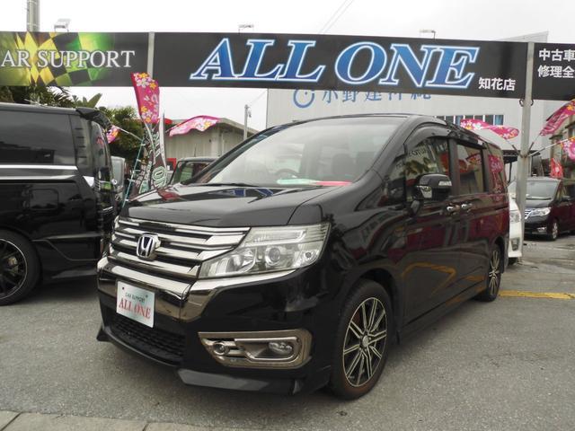 沖縄の中古車 ホンダ ステップワゴンスパーダ 車両価格 114万円 リ済込 2013(平成25)年 8.4万km ブラックM