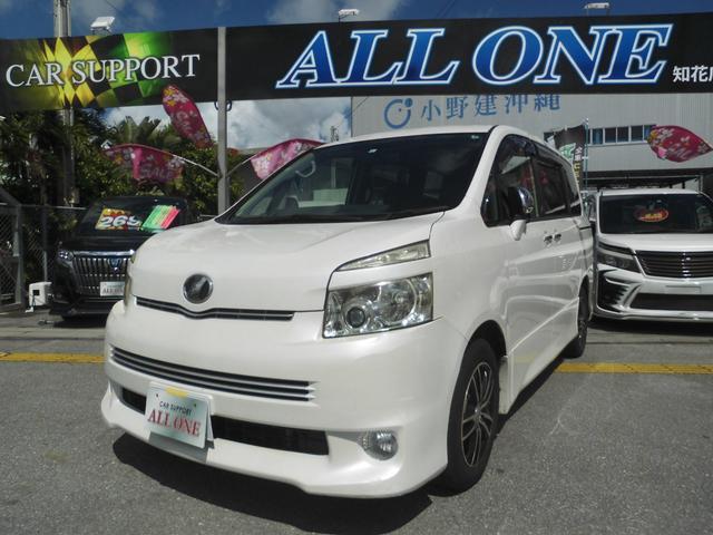 沖縄県沖縄市の中古車ならヴォクシー ZS 煌II 修復無・フルセグTV・Bluetoothオーディオ・ナビ・リアモニター・両側パワースライド・スマートキー