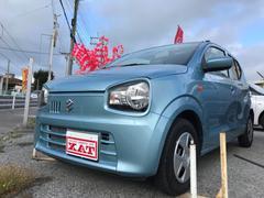 沖縄の中古車 スズキ アルト 車両価格 79万円 リ済別 平成28年 0.8万K ライトブルー
