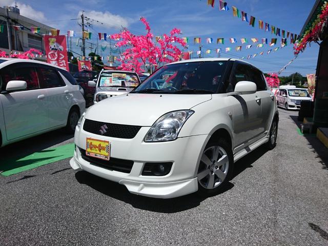 沖縄の中古車 スズキ スイフト 車両価格 55万円 リ済別 平成21年 6.3万km パールホワイト