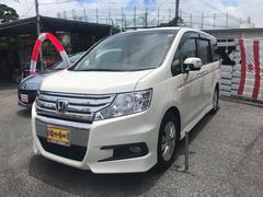 沖縄の中古車 ホンダ ステップワゴンスパーダ 車両価格 145万円 リ済別 平成23年 6.7万K パールホワイト