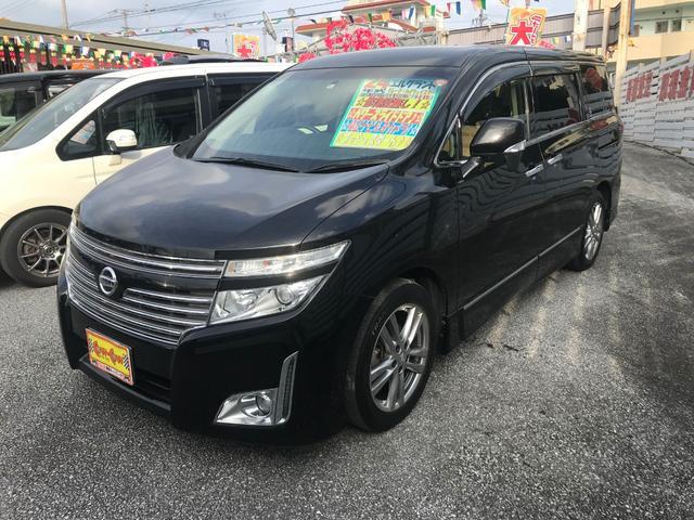 沖縄の中古車 日産 エルグランド 車両価格 208万円 リ済別 平成24年 7.3万km ブラックM