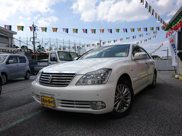沖縄の中古車 トヨタ クラウン 車両価格 68万円 リ済込 2008(平成20)年 9.3万km パールホワイト