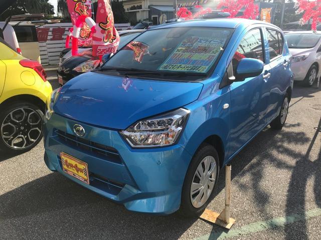 沖縄の中古車 ダイハツ ミライース 車両価格 125万円 リ済別 2018(平成30)年 16km ブルーM