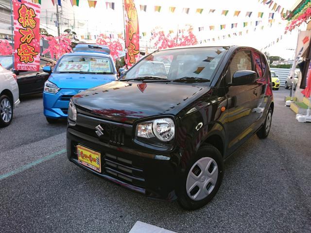 沖縄の中古車 スズキ アルト 車両価格 79万円 リ済別 平成30年 0.7万km ブラック