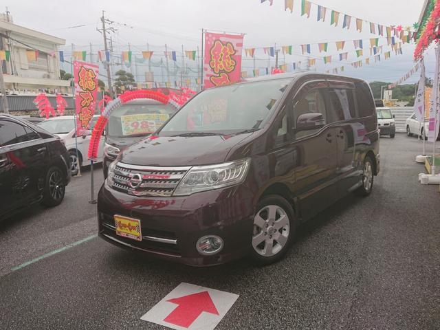 沖縄の中古車 日産 セレナ 車両価格 88万円 リ済別 2010(平成22)年 7.2万km パープル