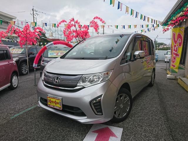 沖縄の中古車 ホンダ ステップワゴン 車両価格 215万円 リ済別 2015(平成27)年 2.1万km シルバー